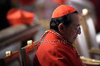 Cardinal Julian Herranz,Pope Benedict XVI celebrates the Vespers and Te Deum prayers in Saint Peter's Basilica at the Vatican on December 31, 2011.