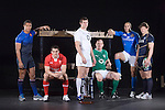 Pictured Left to right at the Six Nations launch in London are Thierry Dusautoir (France), Sam Warburton(Wales), Tom Wood (England), Paul O'Connell (Ireland), Sergio Parisse (Italy) and Ross Ford (Scotland)