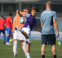 Luca Ferrara (2) of Anderlecht pictured during the warm up before a friendly soccer game between K Londerzeel SK and RSC Anderlecht Reserves during the preparations for the 2021-2022 season , on Wednesday 21st of July 2021 in Londerzeel , Belgium . PHOTO SEVIL OKTEM   SPORTPIX