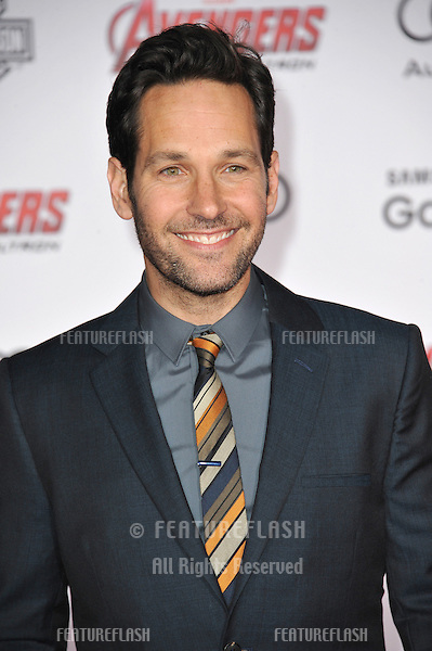 """Paul Rudd at the world premiere of """"Avengers: Age of Ultron"""" at the Dolby Theatre, Hollywood.<br /> April 13, 2015  Los Angeles, CA<br /> Picture: Paul Smith / Featureflash"""