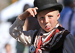 "Taylor Lively, 7, whose gunslinger name is ""El Dorado Johnny,"" blows bubbles while watching the Dayton Valley Days parade in Dayton, Nev., on Saturday, Sept. 18, 2010..Photo by Cathleen Allison"