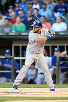 Toronto Blue Jays outfielder Melky Cabrera (53) at bat during a game against the Chicago White Sox on August 15, 2014 at U.S. Cellular Field in Chicago, Illinois.  Chicago defeated Toronto 11-5.  (Mike Janes/Four Seam Images)