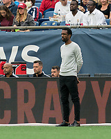 FOXBOROUGH, MA - JULY 25: Montreal Impact coach Wilfried Nancy during a game between CF Montreal and New England Revolution at Gillette Stadium on July 25, 2021 in Foxborough, Massachusetts.