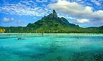 Mount Otemanu in Bora Bora, French Polynesia