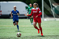 Seattle, WA - Saturday May 13, 2017: Shelina Zadorsky during a regular season National Women's Soccer League (NWSL) match between the Seattle Reign FC and the Washington Spirit at Memorial Stadium.