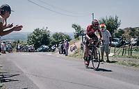 Thomas de Gendt (BEL/Lotto-Soudal) up the Montée de Naves d'Aubrac (Cat1/1058m/8.9km/6.4%)<br /> <br /> 104th Tour de France 2017<br /> Stage 15 - Laissac-Sévérac l'Église › Le Puy-en-Velay (189km)