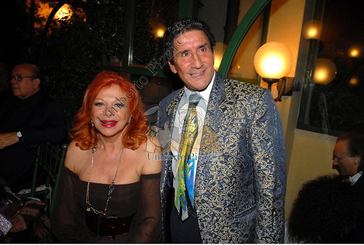 SANDRA MILO CON NANDO VENTURA<br /> PARTY CASA PAZZAGLIA ROMA 2009