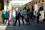 October 04, 2015, Paris, France -  Trainers and owners at the stable area on the racecourse of Longchamp [Copyright (c) Sandra Scherning/Eclipse Sportswire, e-mail: info@sandrascherning.de, NO MODEL RELEASE]