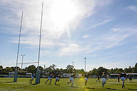 Pre match warm up prior to the Greene King IPA Championship match between Ealing Trailfinders and Cornish Pirates at Castle Bar , West Ealing , England  on 29 September 2018. Photo by Paul Paxford / PRiME Media Images.