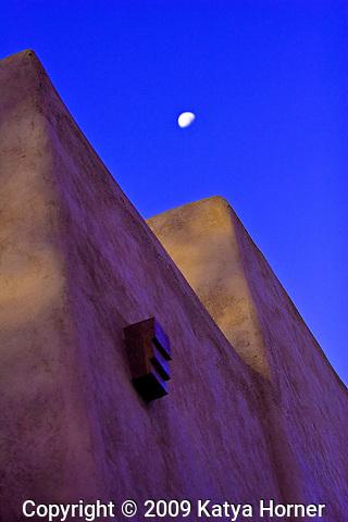 Architecture in Santa Fe, New Mexico.
