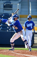 Indiana State Sycamores infielder Andy Young (16) at bat during a game against the Vanderbilt Commodores on February 21, 2015 at Charlotte Sports Park in Port Charlotte, Florida.  Indiana State defeated Vanderbilt 8-1.  (Mike Janes/Four Seam Images)