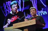 Hay on Wye. Friday 03 June 2016<br />David Aaronovich at the Hay Festival, Hay on Wye, Wales, UK