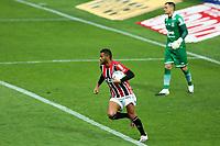 4th October 2020; Couto Pereira Stadium, Curitiba, Parana, Brazil; Brazilian Series A, Coritiba versus Sao Paulo;  Reinaldo of Sao Paulo celebrates his penalty kick goal in the 69th minute for 1-1