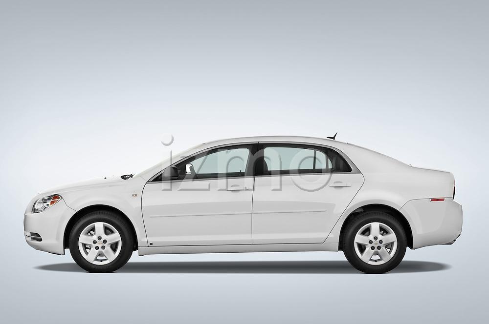 Driver side profile view of a 2008 Chevrolet Malibu Sedan