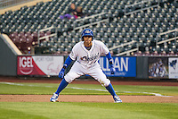 Gabriel Noriega (4) of the Omaha Storm Chasers in action against the Memphis Redbirds in Pacific Coast League action at Werner Park on April 24, 2015 in Papillion, Nebraska.  (Stephen Smith/Four Seam Images)