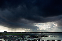 Storm Clouds over Belhaven Bay and Traprain Law  from the John Muir Way, John Muir Country Park, Dunbar, East Lothian