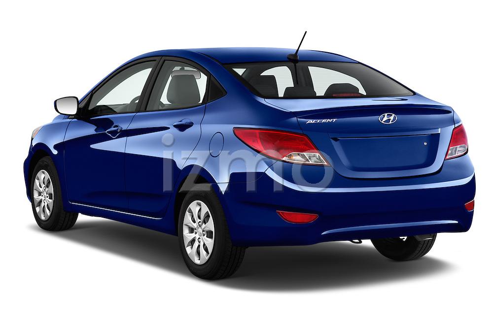 Car pictures of rear three quarter view of 2017 Hyundai Accent SE 4-Door 6-Speed Automatic 4 Door Sedan Angular Rear