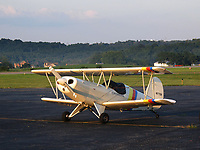 EAA Biplane, a single seat open cockpit biplane, at the Washington County Airport (AJF), Washington, Pennsylvania