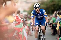 Zdenek Stybar (CZE/Deceuninck - QuickStep) up the brutal (last climb) Alto de Arraiz (up to 25% gradients!), 7km from the finish <br /> <br /> Stage 12: Circuito de Navarra to Bilbao (171km)<br /> La Vuelta 2019<br /> <br /> ©kramon