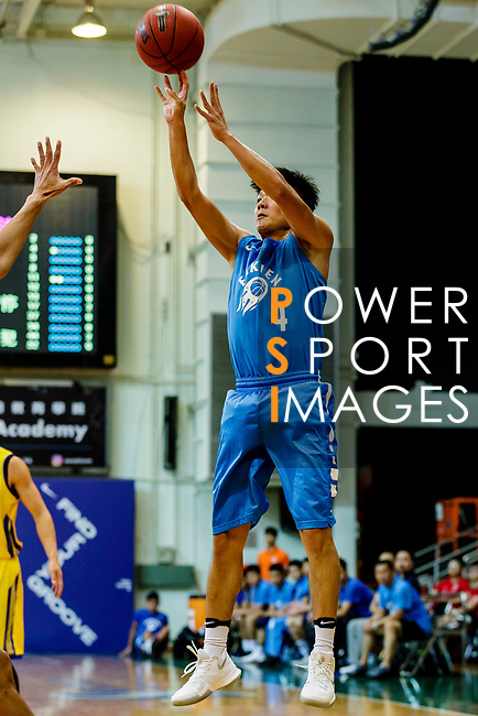 Lam Yu #4 of Fukien Basketball Team tries to score during the Hong Kong Basketball League game between Winling and Fukien at Southorn Stadium on May 29, 2018 in Hong Kong. Photo by Yu Chun Christopher Wong / Power Sport Images