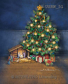 Randy, HOLY FAMILIES, HEILIGE FAMILIE, SAGRADA FAMÍLIA, paintings+++++Christmas-Tree-with-Creche,USRW51,#xr#
