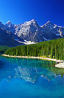 Canada, Alberta, Banff National Park. Moraine Lake and the Valley of the Ten Peaks
