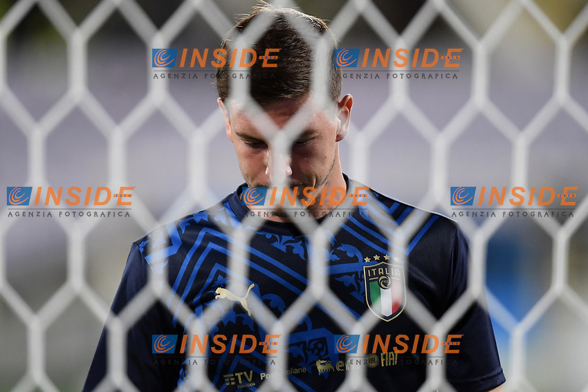 Alessio Cragno of Italy warms up prio to the friendly football match between Italy and Moldova at Artemio Franchi Stadium in Firenze (Italy), October, 7th 2020. Photo Andrea Staccioli/ Insidefoto