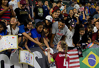 Carson, CA - Thursday August 03, 2017: Becky Sauerbrunn, Fans during a 2017 Tournament of Nations match between the women's national teams of the United States (USA) and Japan (JAP) at StubHub Center.