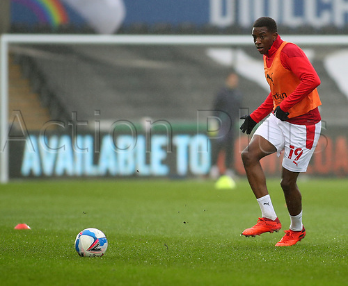 21st November 2020; Liberty Stadium, Swansea, Glamorgan, Wales; English Football League Championship Football, Swansea City versus Rotherham United; Wes Harding of Rotherham United during warm up