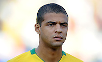 Felipe Melo of Brazil. Brazil defeated USA 3-0 during the FIFA Confederations Cup at Loftus Versfeld Stadium in Tshwane/Pretoria, South Africa on June 18, 2009.
