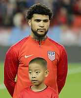 TORONTO, ON - OCTOBER 15: DeAndre Yedlin #2 of the United States during a game between Canada and USMNT at BMO Field on October 15, 2019 in Toronto, Canada.