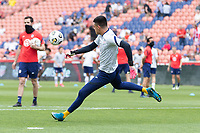 SANDY, UT - JUNE 10: David Ochoa #19 of the United States during a game between Costa Rica and USMNT at Rio Tinto Stadium on June 10, 2021 in Sandy, Utah.