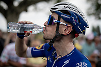 post finish hydration by Dries Devenyns (BEL/Deceuninck - QuickStep)<br /> <br /> Stage 7: Belfort to Chalon-sur-Saône (230km)<br /> 106th Tour de France 2019 (2.UWT)<br /> <br /> ©kramon