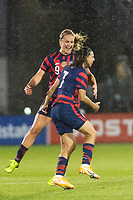 EAST HARTFORD, CT - JULY 1: Tobin Heath #7 of the United States celebrates scoring during a game between Mexico and USWNT at Rentschler Field on July 1, 2021 in East Hartford, Connecticut.