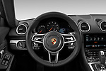 Car pictures of steering wheel view of a 2019 Porsche 718 Cayman Base 2 Door Coupe