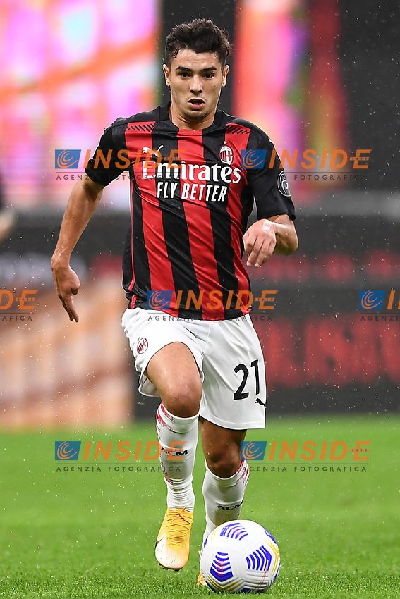 Brahim Diaz<br /> Serie A football match between AC Milan and Spezia Calcio at San Siro Stadium in Milano  (Italy), October 4th, 2020. Photo Image Sport / Insidefoto