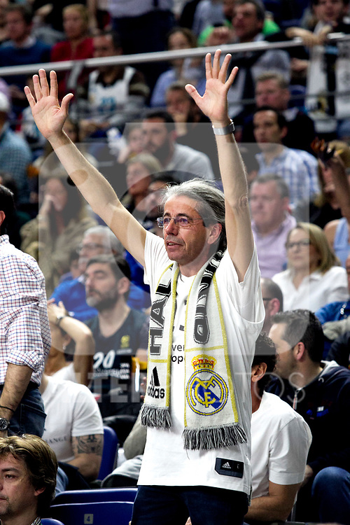Real Madrid's supporter during Liga Endesa match between Real Madrid and FC Barcelona Lassa at Wizink Center in Madrid, Spain. March 24, 2019.  (ALTERPHOTOS/Alconada)