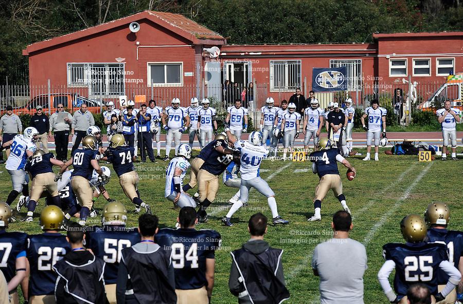 - NAPOLI 16 MAR -  Football americano   Serie A Briganti Napoli Warriors Bologna