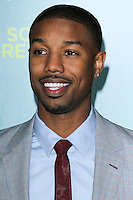 """LOS ANGELES, CA - JANUARY 27: Michael B. Jordan at the Los Angeles Premiere Of Focus Features' """"That Awkward Moment"""" held at Regal Cinemas L.A. Live on January 27, 2014 in Los Angeles, California. (Photo by David Acosta/Celebrity Monitor)"""