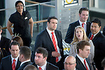 The Welsh rugby team celebrate winning the Grand Slam in the Six Nations rugby tournament at The Senydd in Cardiff Bay..Jamie Roberts at the drinks reception.