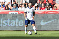 SANDY, UT - JUNE 10: Sebastian Lletget #17 of the United States passes the ball during a game between Costa Rica and USMNT at Rio Tinto Stadium on June 10, 2021 in Sandy, Utah.