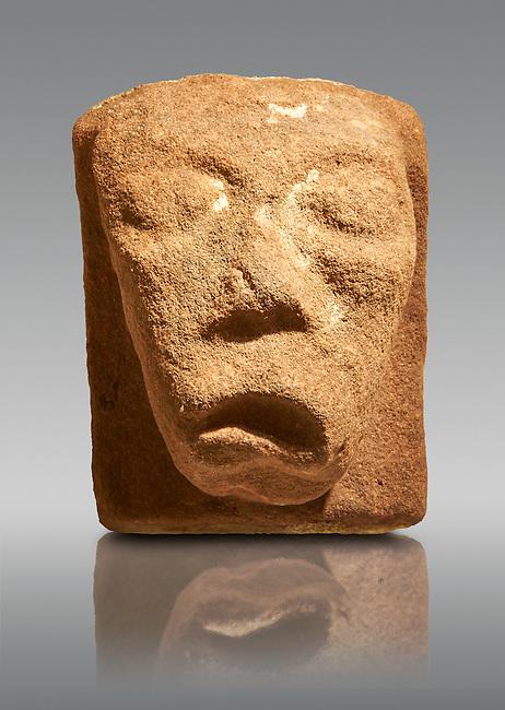 Anglo Saxon Medieval stone gargoyle from Lindisfarne Abbey, Holy Island, England