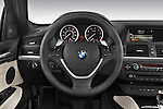 Steering wheel view of a 2008 BMW X6 Sports Activity Vehicle