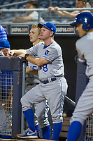 AZL Royals manager Darryl Kennedy (8) during the game against the AZL Mariners on July 29, 2017 at Peoria Stadium in Peoria, Arizona. AZL Royals defeated the AZL Mariners 11-4. (Zachary Lucy/Four Seam Images)