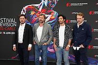 56th Monte Carlo TV Festival Photocalls Benoit MICHEL . Bernard YERLES . Aurelien WIIK .Roby SCHINASI