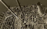 historical aerial photo Brooklyn, New York City, 1954