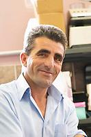 Ramadan Likaj, owner and president. Kantina Miqesia or Medaur winery, Koplik. Albania, Balkan, Europe.