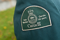 Park Warden badge is seen during a police memorial parade in Ottawa Sunday September 26, 2010.