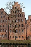Magazzin idel sale,Lubecca, Germania, Salt Warehouse, Lübeck,Schleswig-Holstein, Germany