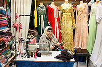 Nederland Beverwijk 2017. De Bazaar in Beverwijk. De Oosterse Markt. Caftan Biladi. Marokkaanse damesmode. Exclusieve kaftans.     Foto mag niet in negatieve context gebruikt worden.    Foto Berlinda van Dam / Hollandse Hoogte
